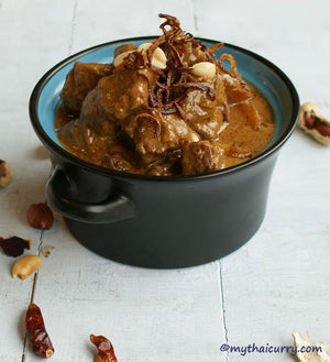 Thai Beef Massaman Curry Serving Presentation