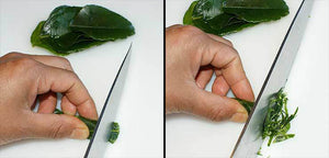 How to chiffonade Kaffir lime leaves