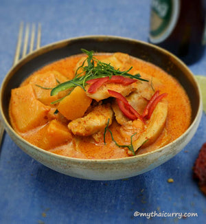 Thai Red Chicken Curry with Butternut Squash