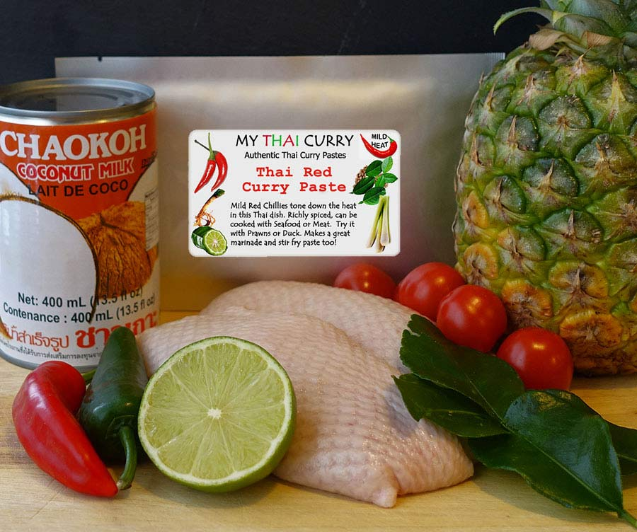 Ingredients for Thai Duck Red Curry with Pineapple