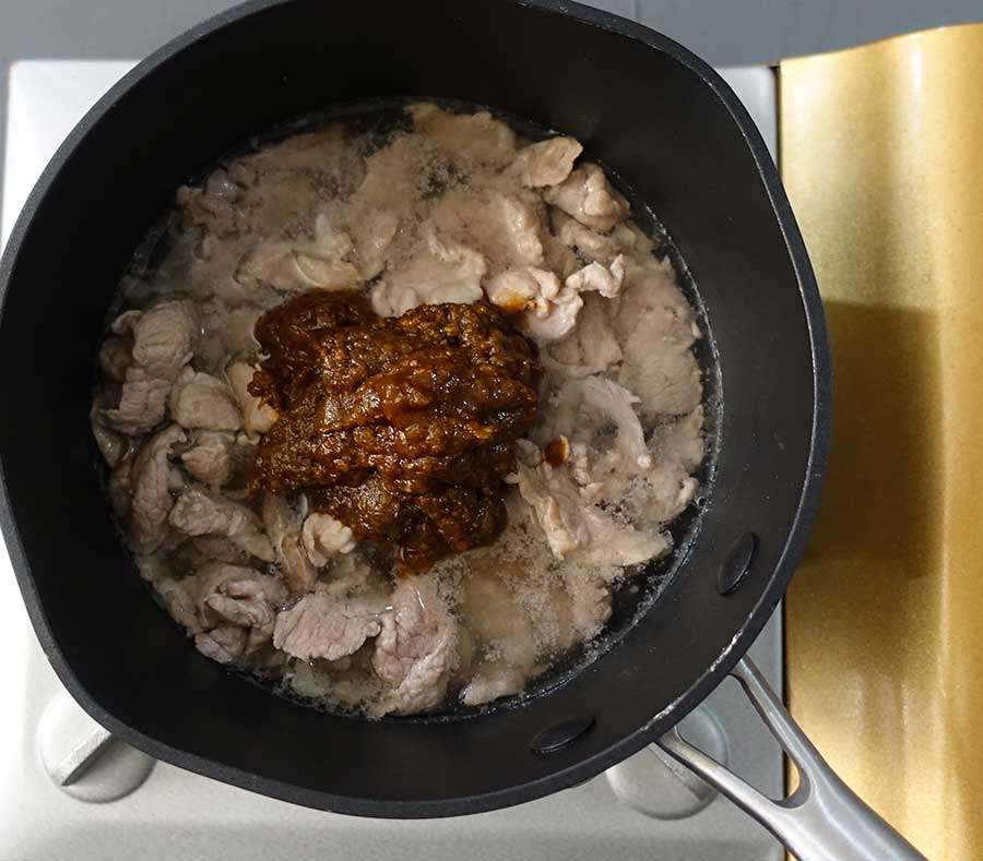 Add Jungle Curry paste to the pan