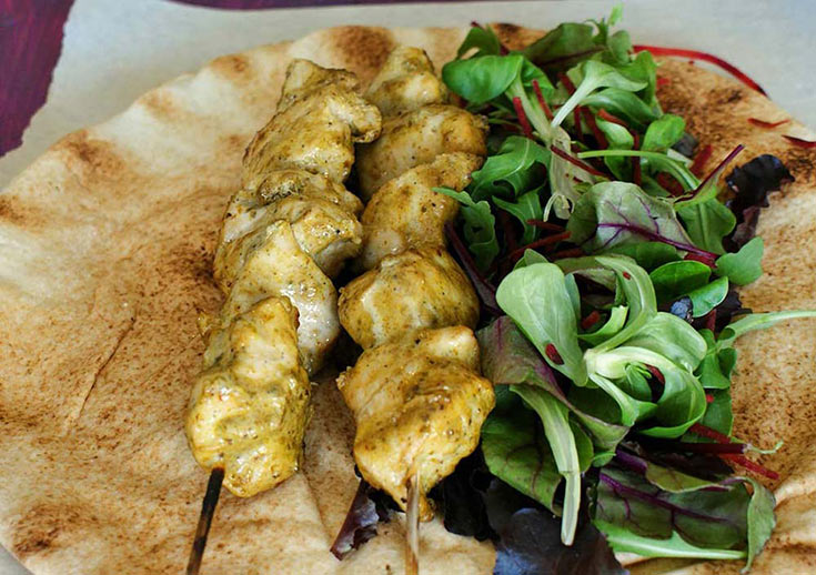 Thai Green Chicken Wrap skewers