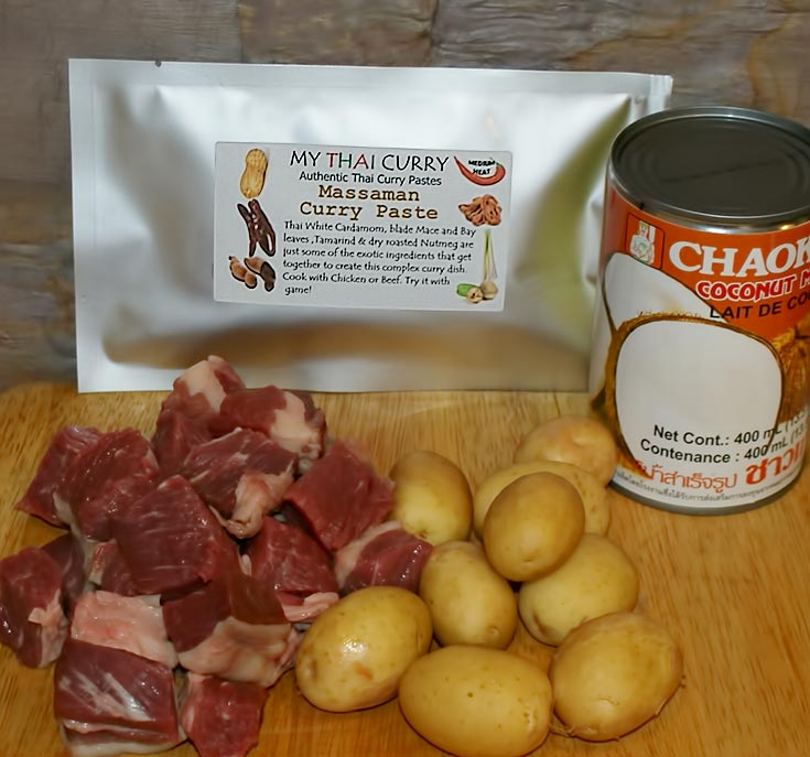 Beef Massaman Ingredients
