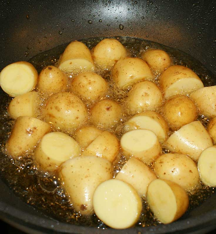 Saute potatoes