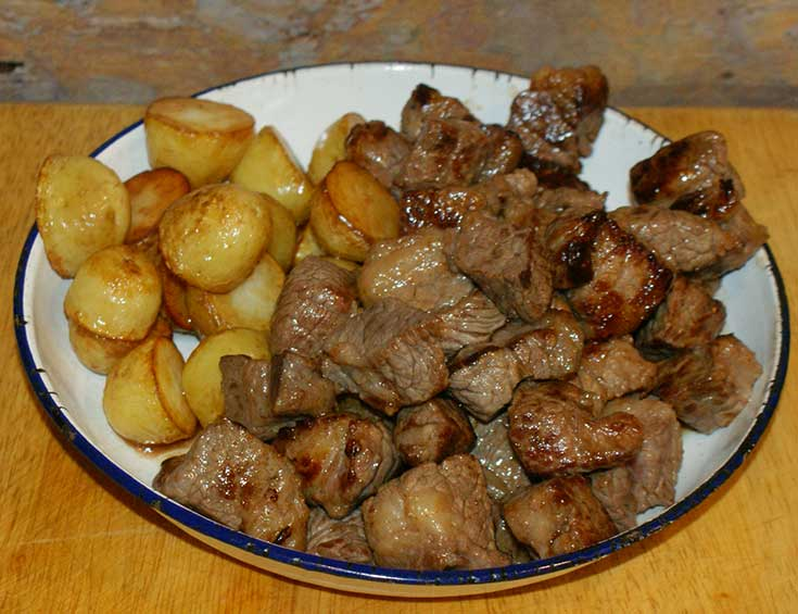 Beef Massaman and potatoes
