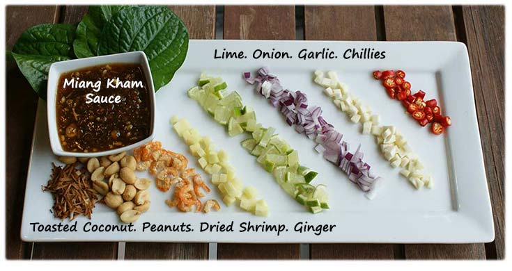 Miang Kham ingredients labeled