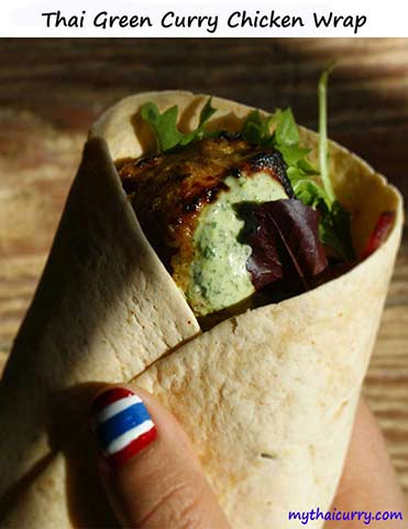 Thi green curry wrap thumb