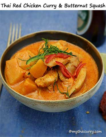 Thai Red Chicken Curry & Butternut Squash