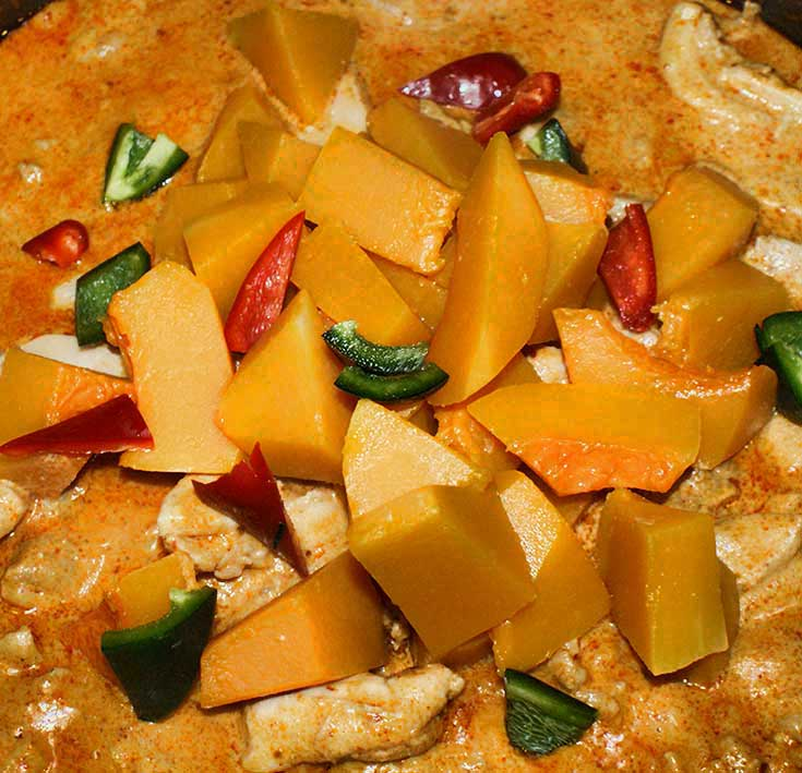 Add Butternut Squash and Sliced Peppers