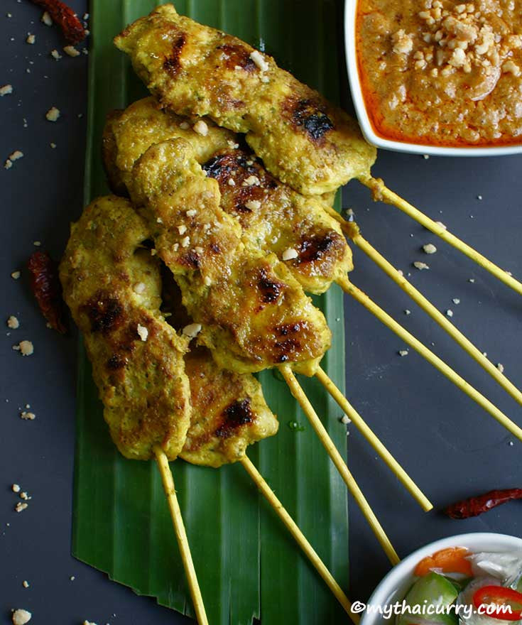 Thai Chicken Satay Serving Presentation 2