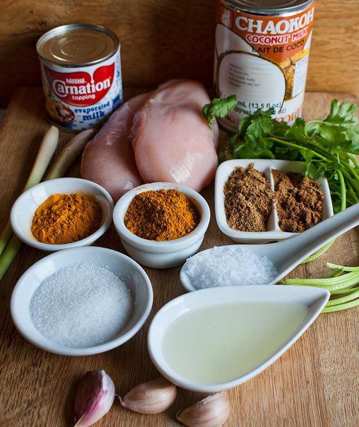 Thai Chicken Satay Marinade Ingredients