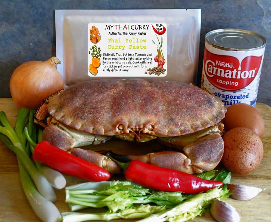Thai crab curry ingredients 1