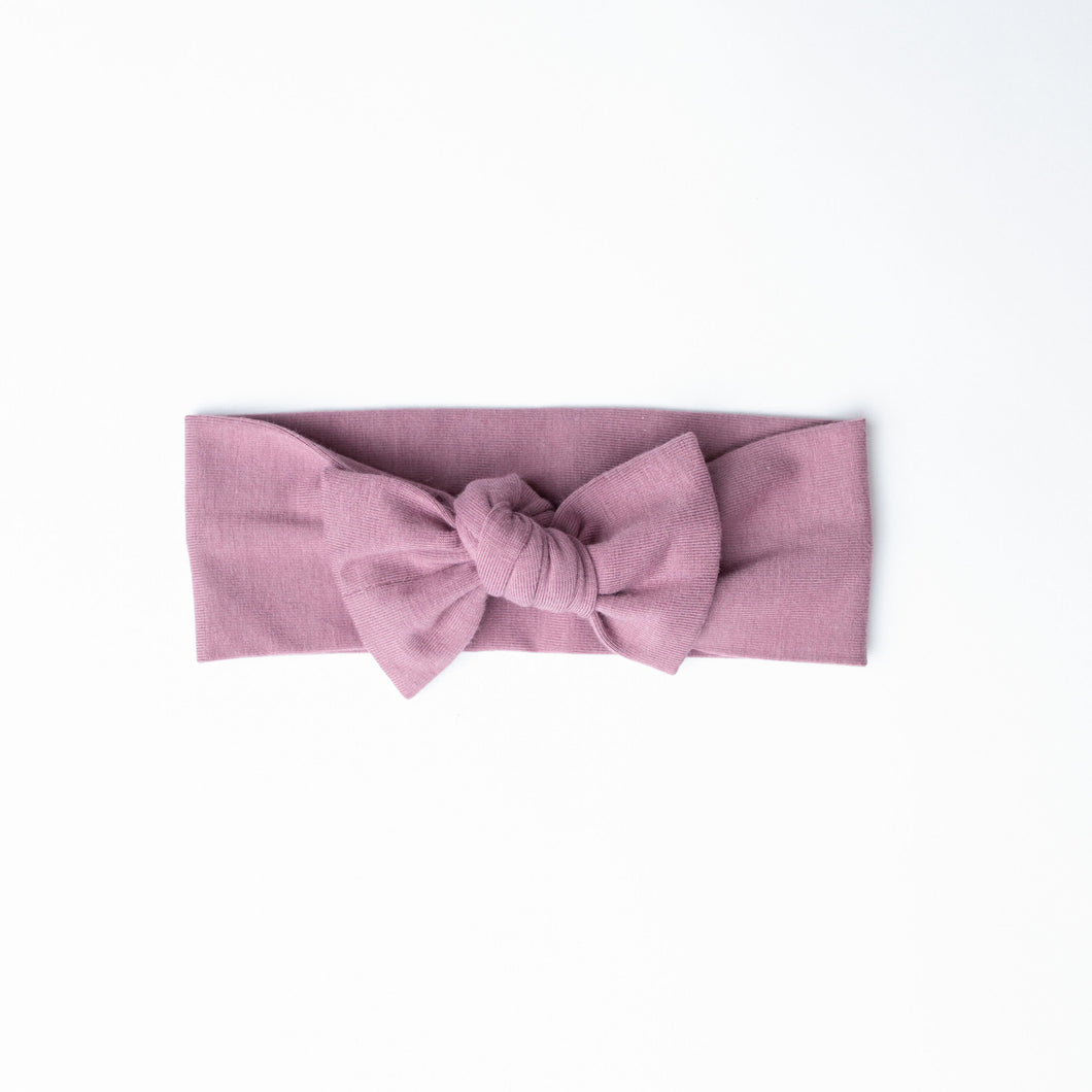 Bamboo headband in mauve