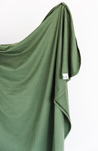 swaddle blanket in moss green