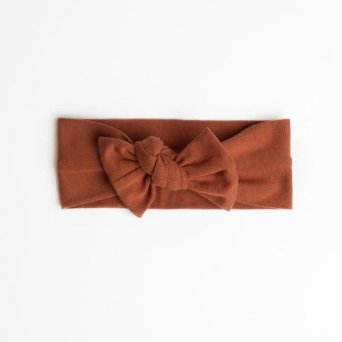 Rust Top knot headband
