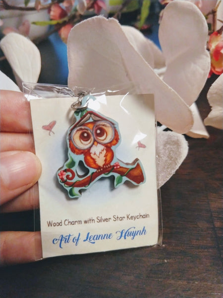 Limited Edition Wood Charm with Silver Star Clasp