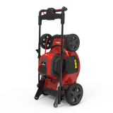 "19"" Self-propelled battery mower Mow N' Stow: compact vertical storage"