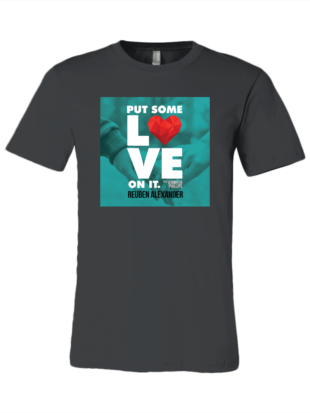 Put Some Love On It feat. Jennifer Phillips (Single Cover) - Men's T-Shirt