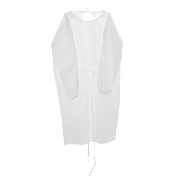 ISOLATION GOWN - WHITE (WATERPROOF)