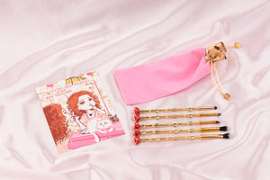 Edwardian Rose Makeup Brushes