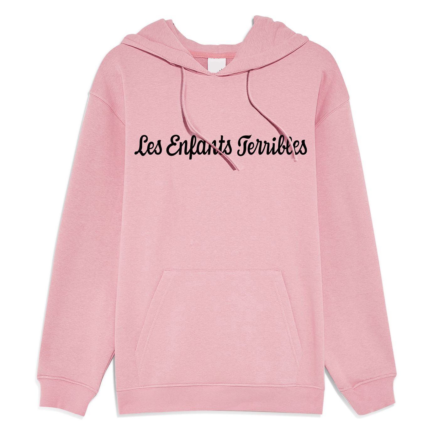 LETHaircutBar Cotton Hoodie Pink with Black