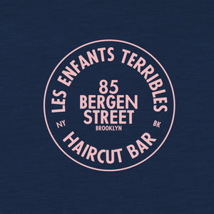 Les Enfants Terribles Cotton T Shirt Navy with Pink