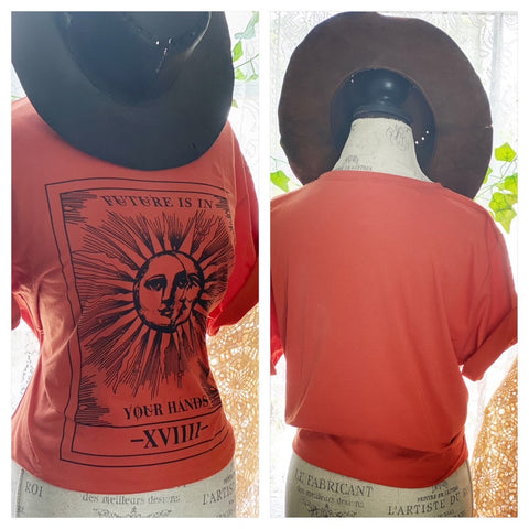 Gypsy rose Sun T-shirt, Boho festival looks, L XL
