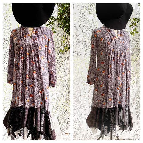 Tunic dress autumn look, clearance sale medium, True Rebel Clothing