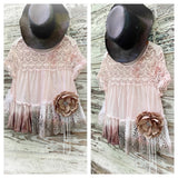 Women's lace top, shabby chic lace tunic, French cottage chic M