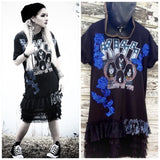 Kiss concert tshirt dress, festival looks, grunge chic, med True Rebel Clothing