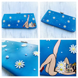 Daisy Pin-up clutch, vintage tattoo girls clutch purse