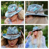 Mermaid gypsy fall hat, bohemian beach, boho chic, True Rebel clothing