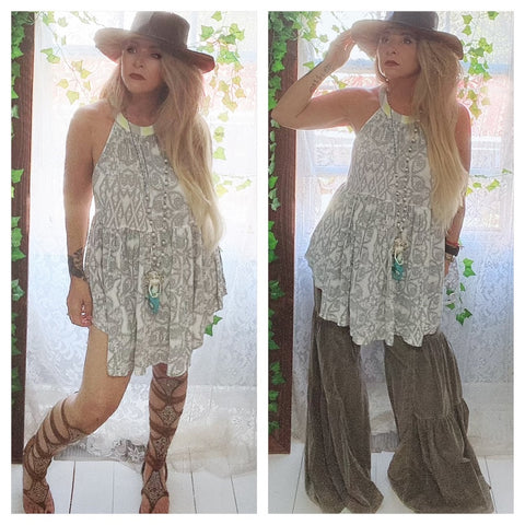 Free people tunic dress, spring boho dresses, True Rebel clothing M L