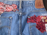 Vintage Levi's 511, cut off denim shorts, coachella festival vibe, 32