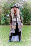 Fall flannel, Fields of gold ruffle boyfriend kimono jacket, boyfriend flannel,