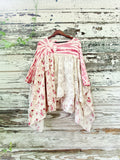 Tie dye crochet poncho, romantic floral crochet loves tunic, OS