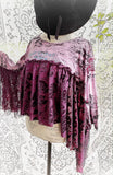 Purple rain poncho clearance sale, fall poncho tunic, lace tunic OS