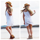 Copy of Boho beach white coachella sundress, summer girl beach dress