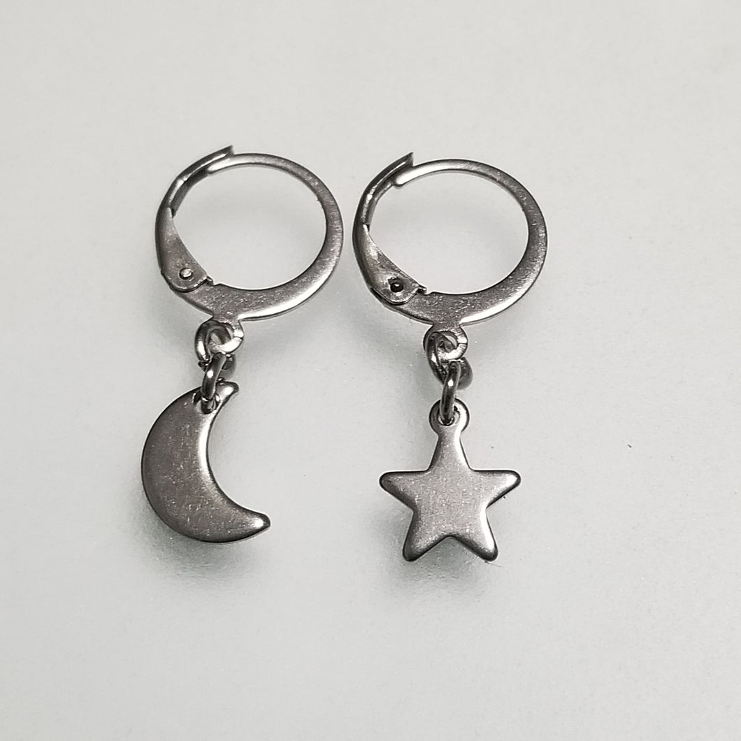 Moon & Star Hoops |S|
