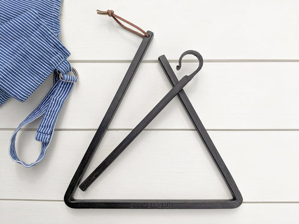 "Hand Forged 12"" Dinner Bell Triangle"