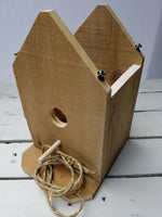 Recycled Wood Hanging Bird House