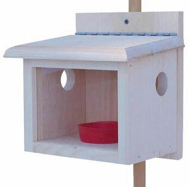 Post Mount Blue Bird Feeder