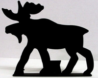 Moose doorstop by North Country Wind Bells is made in the USA