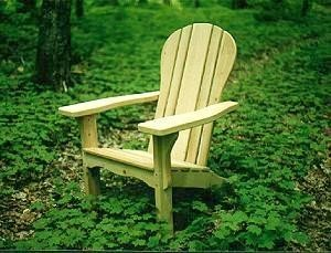 deluxe cedar adirondack chair by Allagash Wood Products, Made in the USA
