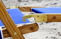Detachable leg rest on the #101 Anywhere Chair reclining beach chair.