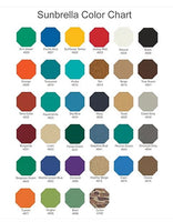 Fabric colors available on the Anywhere Chair Pool Deck Chair #103