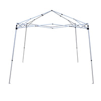 The lightweight, steel frame has a cathedral style roof and improved corner brackets