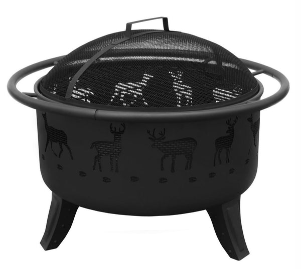 Patio Lights Deer Fire Pit