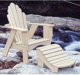 Uwharrie Chair Fanback Adirondack Chair #4011 shown with leg rest #4021