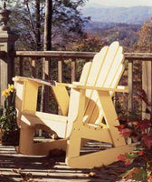 Uwharrie Chair #4012 Fanback Adirondack Rocker shown in B.T.Gold